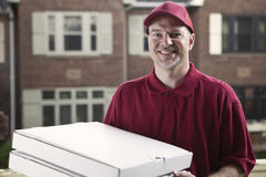 Pizza delivery guy Stock Image