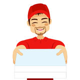 Pizza Delivery Guy Portrait Royalty Free Stock Images