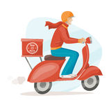 Pizza delivery guy Royalty Free Stock Images