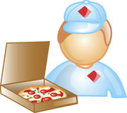 Pizza Delivery Icon Stock Images