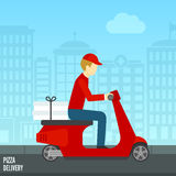 Pizza delivery icon Stock Image