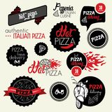 Pizza delivery label Stock Images