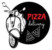Pizza delivery label Royalty Free Stock Photography