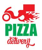 Pizza delivery label Royalty Free Stock Image