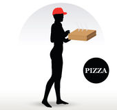 Pizza Delivery Person Stock Photography