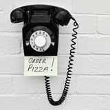Pizza delivery reminder Stock Photography