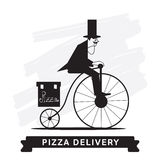 Pizza Delivery Service, Vector icon. Royalty Free Stock Images