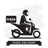 Pizza Delivery Service, Vector icon. Royalty Free Stock Image