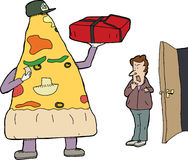 Pizza Delivery Stock Photography