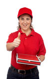 Pizza delivery woman Royalty Free Stock Photos
