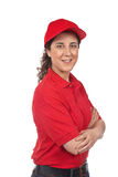 Pizza delivery woman Stock Photography
