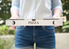 Pizza delivery. stock photography