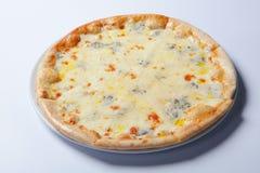 Pizza deliziosa italiana con i funghi ed il prosciutto Fotografie Stock