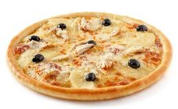 Pizza dell'ananas del pollo Immagine Stock
