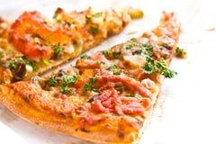 Pizza dell'italiano della parte Immagine Stock