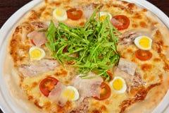 Pizza della carne Immagine Stock Libera da Diritti