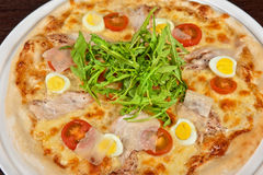 Pizza della carne Fotografia Stock