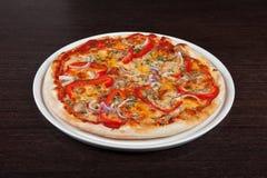 Pizza della carne Fotografia Stock Libera da Diritti