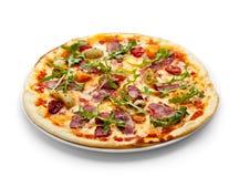 Pizza della carne dell'anatra Fotografia Stock