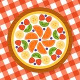 Pizza della frutta per il partito Fotografia Stock Libera da Diritti