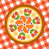 Pizza della frutta per il partito Fotografia Stock