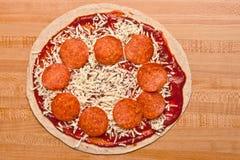 Pizza della tortiglia Fotografie Stock