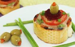 Pizza des französischen Brotes lizenzfreies stockfoto