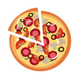 Pizza design Stock Photography
