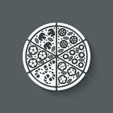 Pizza Design Element Stock Photo