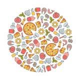 Pizza design element Stock Images