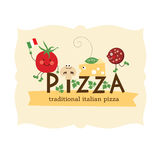 Pizza design Stock Images