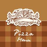 Pizza design menu Stock Images