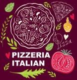 Pizza design menu template Stock Photography