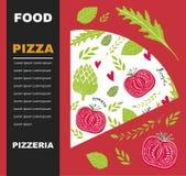 Pizza design menu template Stock Image
