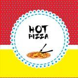 Pizza design Stock Photography