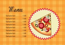 Pizza design Royalty Free Stock Photography