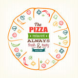 Pizza design template for menu, banner, advertising etc Stock Photography