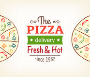 Pizza design template for menu, banner, advertising etc Royalty Free Stock Images