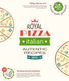 Pizza design template for menu, banner, advertising etc Royalty Free Stock Image