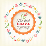 Pizza design template for menu, banner, advertising etc Stock Images