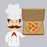 Pizza design, vector illustration. Royalty Free Stock Image