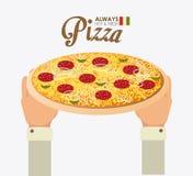 Pizza design, vector illustration. Stock Photo