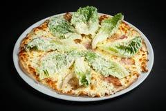 Pizza di Chiken Fotografia Stock Libera da Diritti