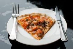 Pizza di color salmone immagine stock libera da diritti