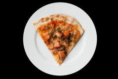 Pizza di color salmone fotografia stock libera da diritti