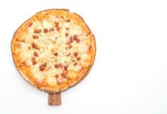 pizza di formaggio e del bacon immagine stock libera da diritti