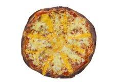 Pizza di formaggio quattro Percorso di ritaglio ed isolato Fotografie Stock Libere da Diritti