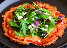 Pizza di formaggio senza glutine Fotografie Stock Libere da Diritti