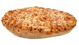Pizza di formaggio su priorità bassa bianca fotografia stock