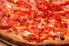 Pizza di merguez Fotografia Stock